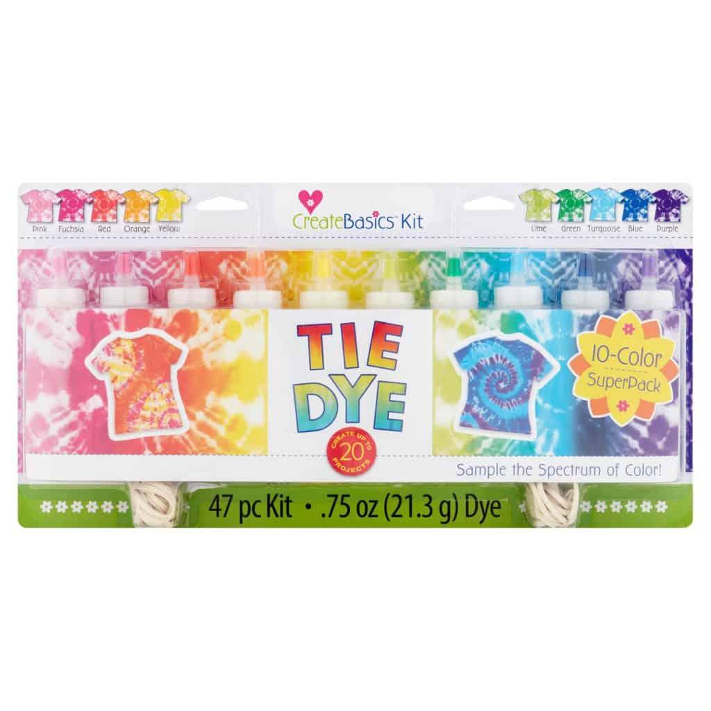 Walmart tie-dye kits - Create Basics 10 colour