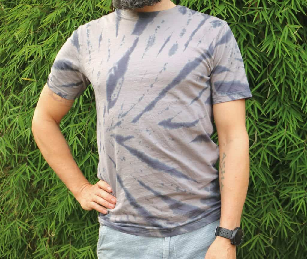 Spider tie-dye shirt front