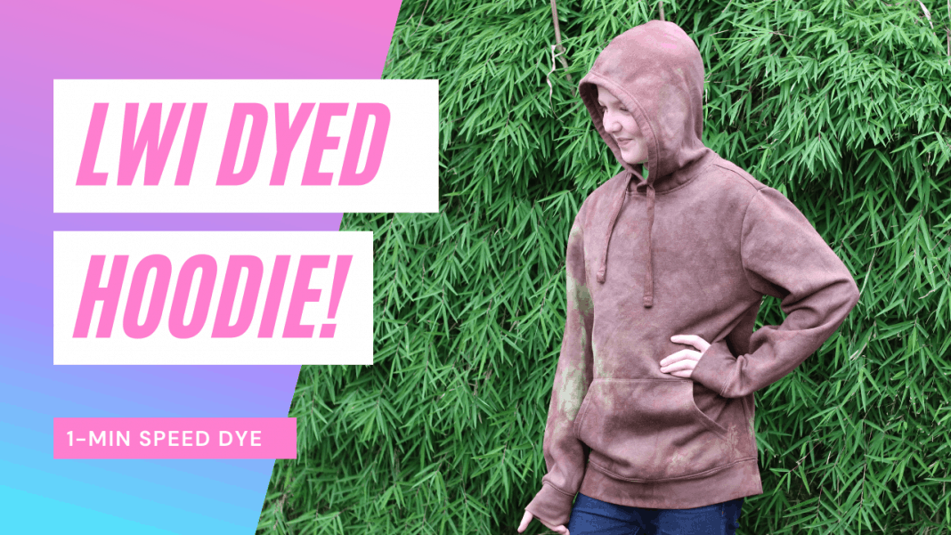 Tie-Dye Hoodie with Low Water Immersion