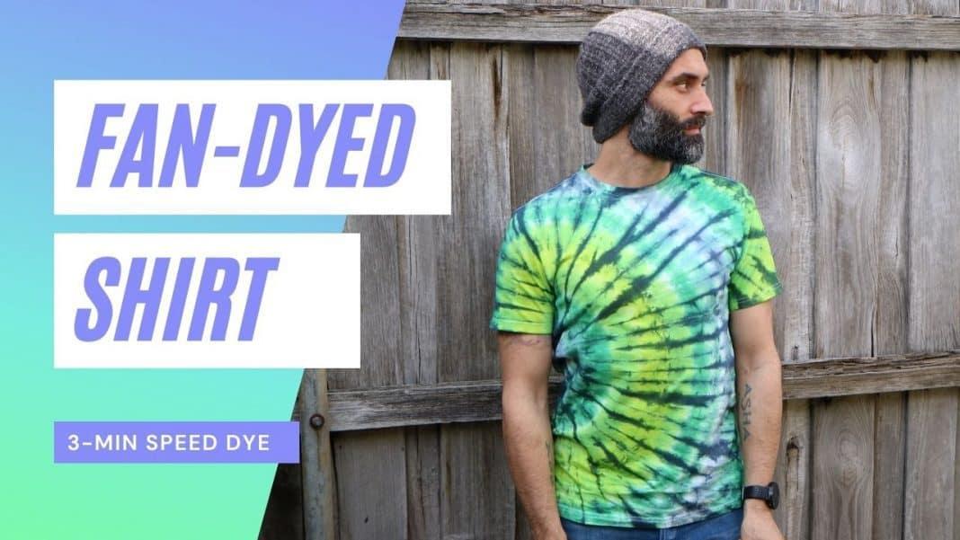 Fan Tie-Dye Green tie-dye men's shirt - Dye DIY