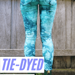 Tie-dyed, low water immersion woman's jeans