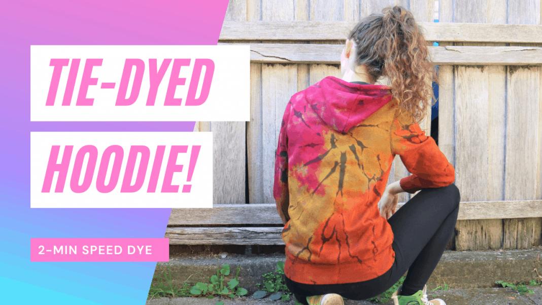 Women's tie-dye hoodie